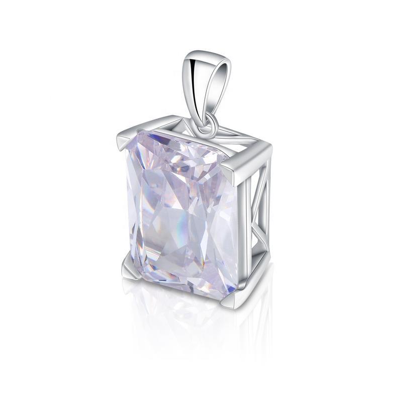 Rhodium Plated Zircon Silver Channel Jewelry Wholesale