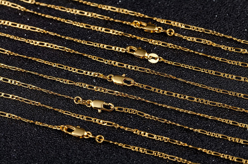 Hot Style Gold Plated Fashion Exquisite Jewelry, Personality 3:1 Necklace 2mm