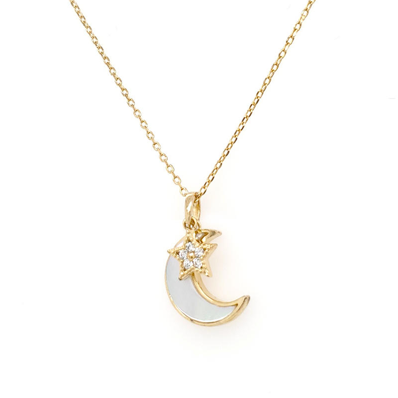Best Price Gold Chain Star And Moon Shape Drop Wholesale Gold Necklaces For Sale