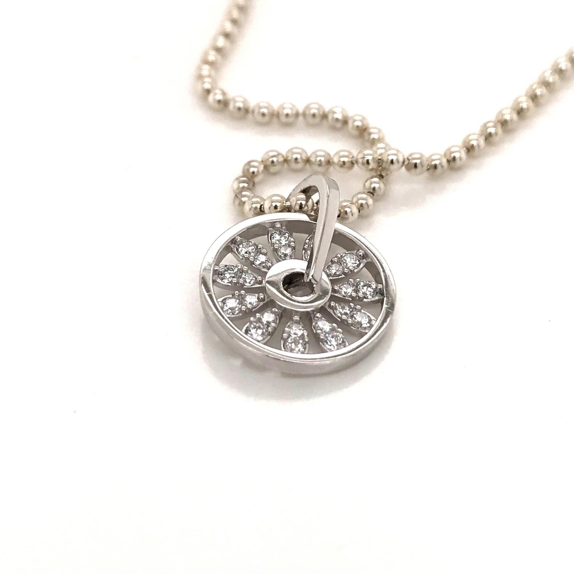 Delicate Zircon Wheel Shape Disc Online Wholesale Mom Necklace Personalized