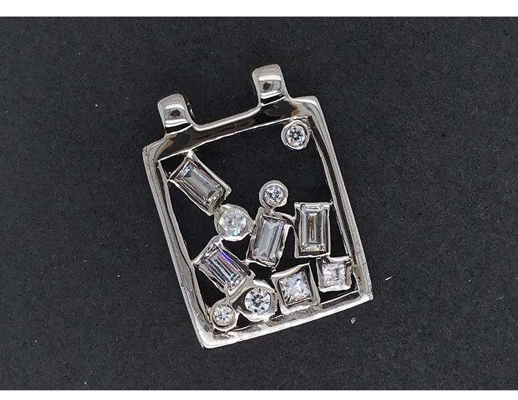 925 Silver Girls Artificial Diamond Choker Necklace