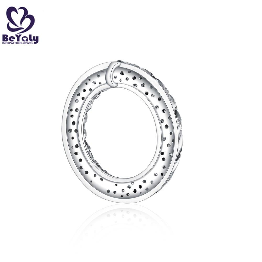 Sun shape hollow design black and white cz silver jewelry