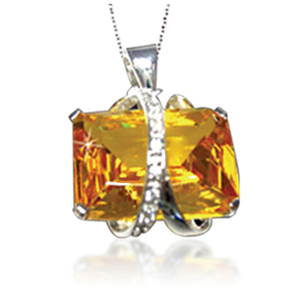 Women silver big yellow amber jewelry for party