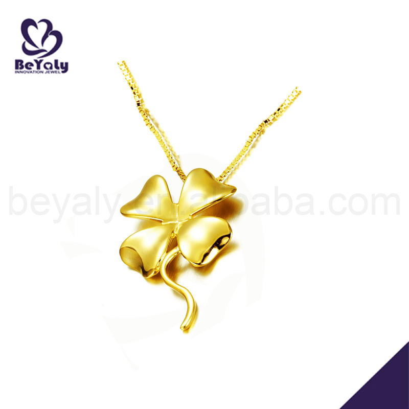 Shiny fashion silver clover 18k gold filled jewelry