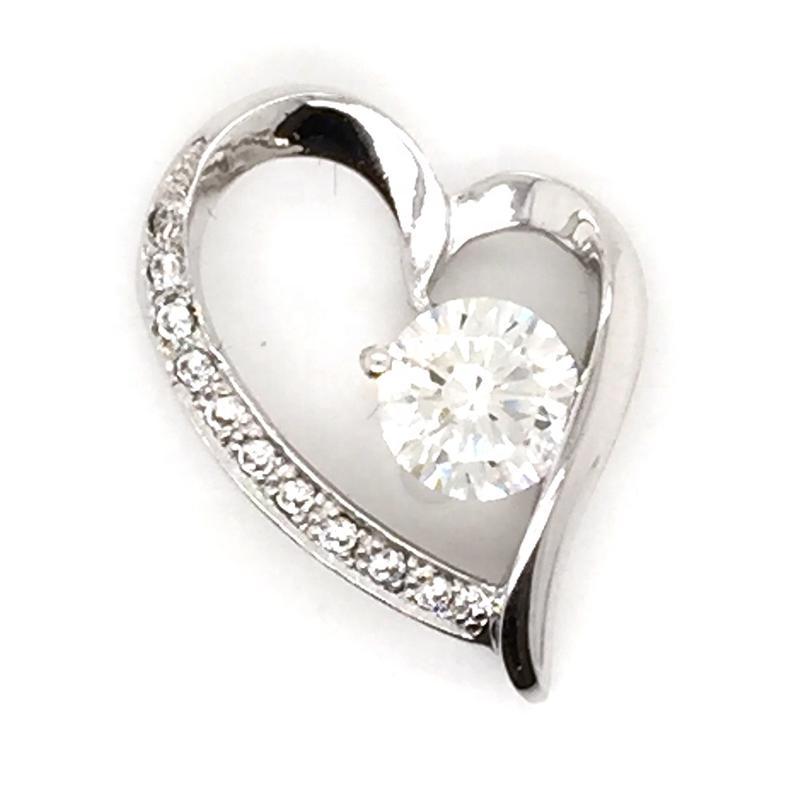 Wholesale Cz Heart Sterling Silver Lockets Wholesale Necklace