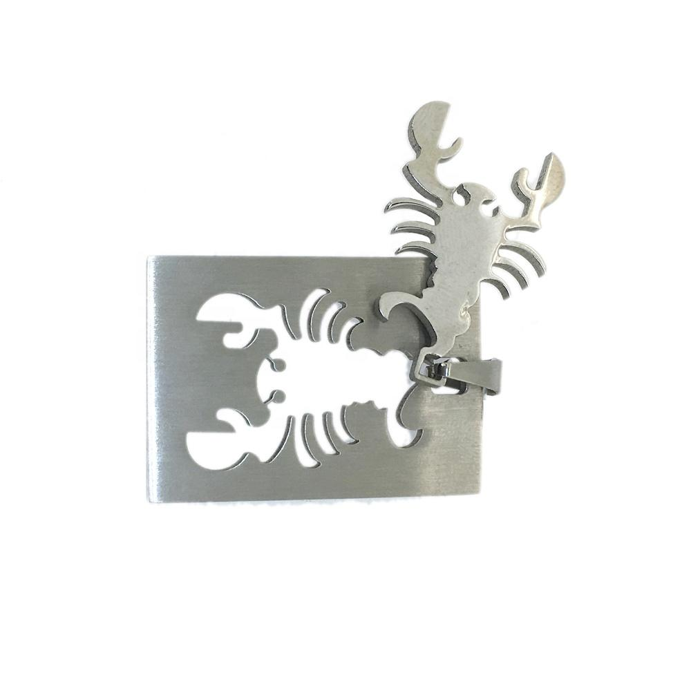 Stainless Steel Rectangle Scorpion Custom Engraved Necklace