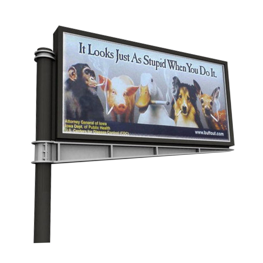 Outdoor Street Double Sided Scrolling System Electronic Billboard