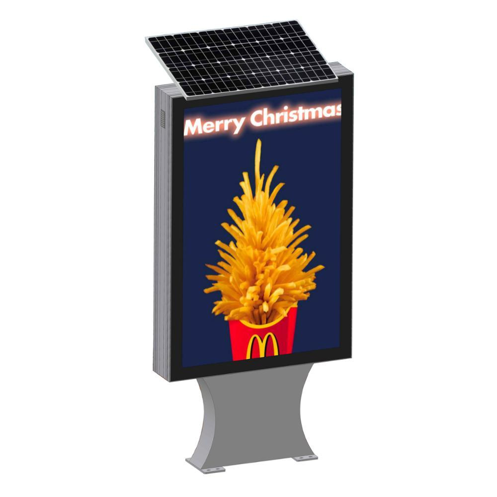 Outdoor street light box advertising solar light box