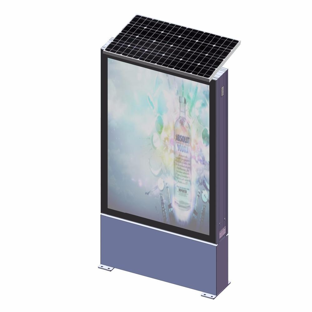Street side waterproof solar panel advertising light box