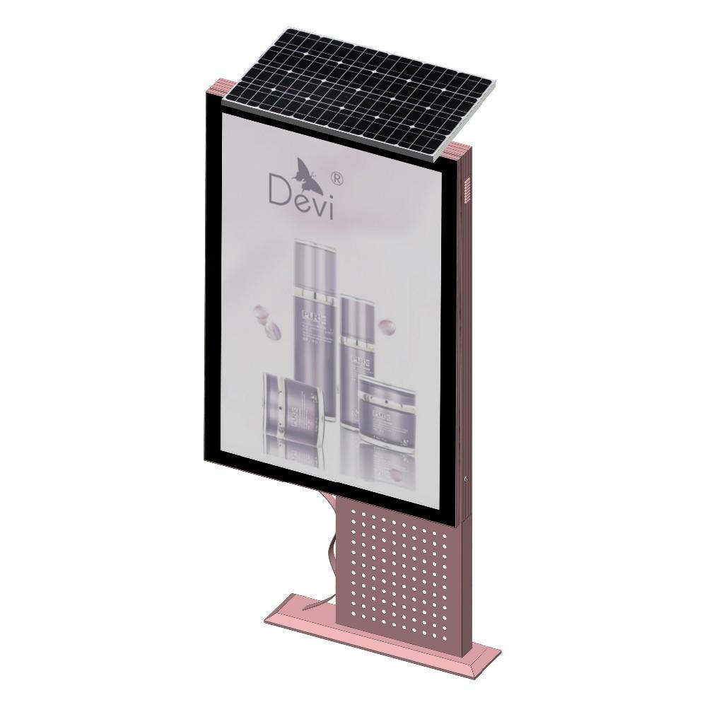 Outdoor Advertising Equipment Static Solar Light Box Mupi