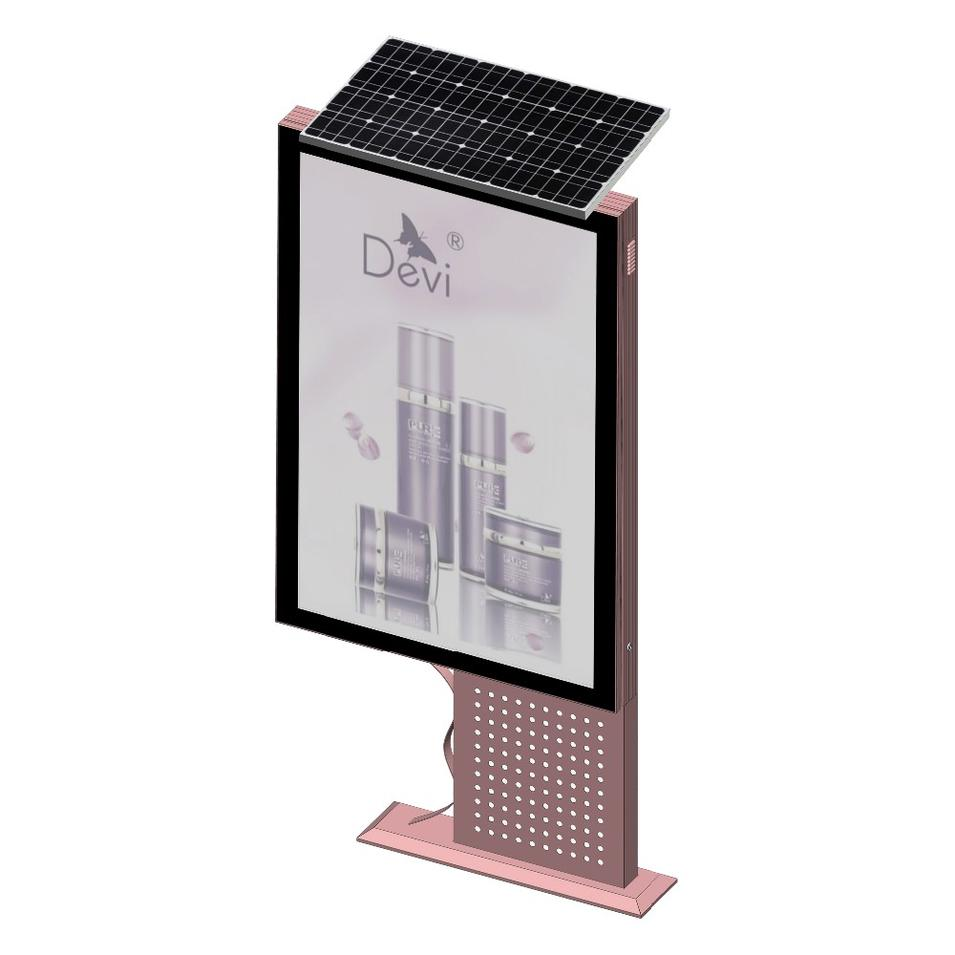 Outdoor Advertising Equipment Static Solar Light Box Mupi