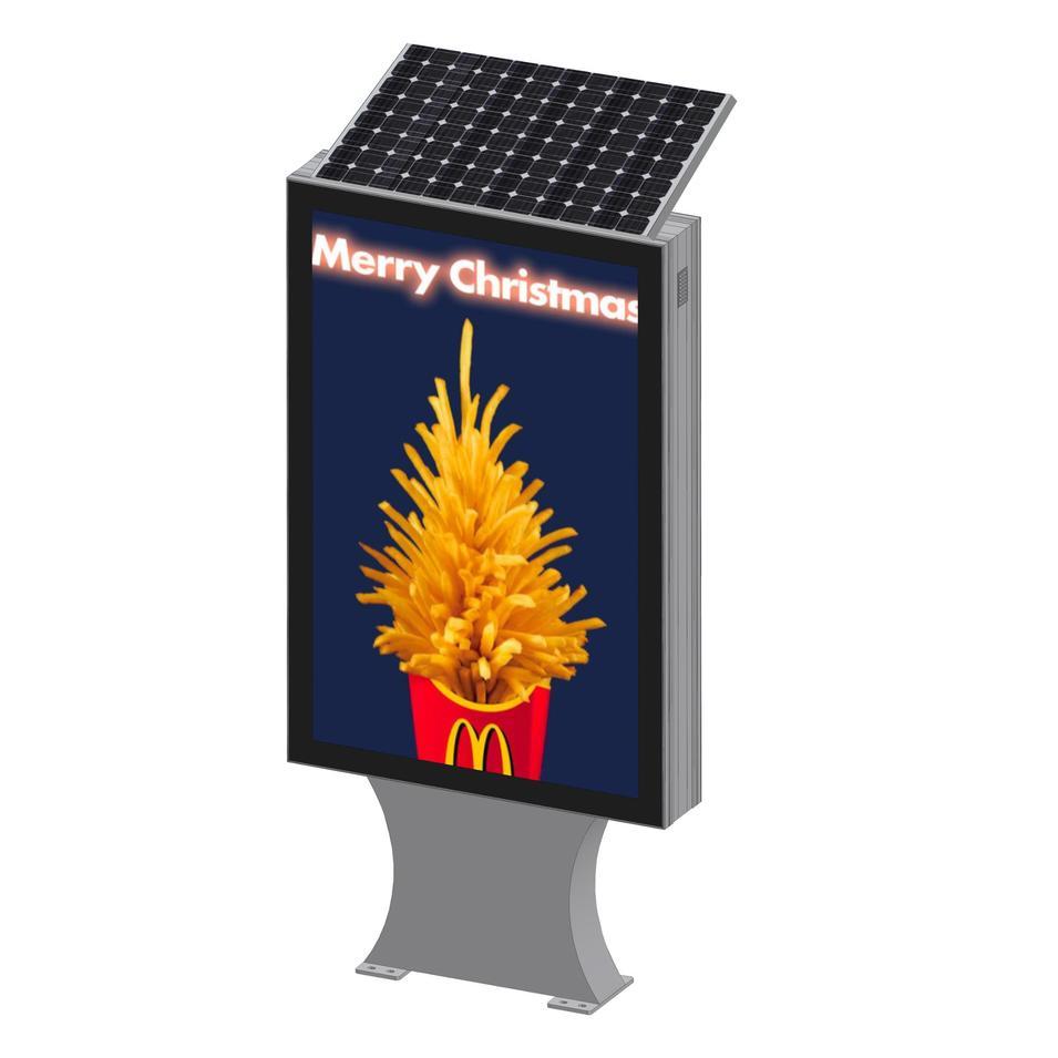 Street sign solar power double sided aluminum profile light box