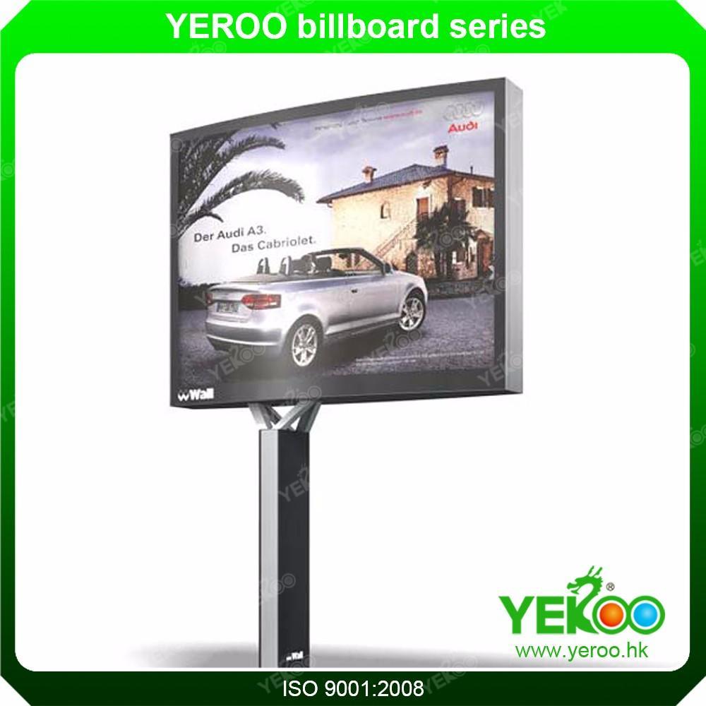 Outdoor rotating posters advertising scrolling billboard