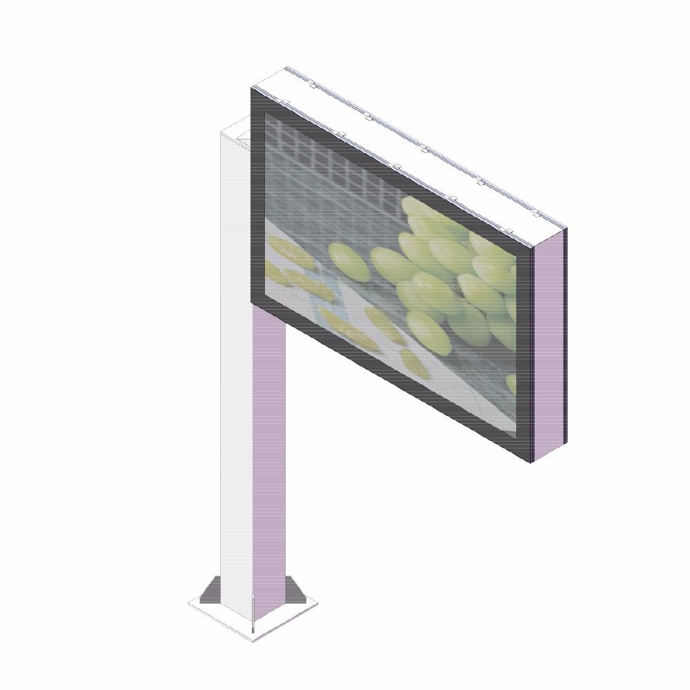 Outdoor advertising equipment scrolling billboard with scrolling system