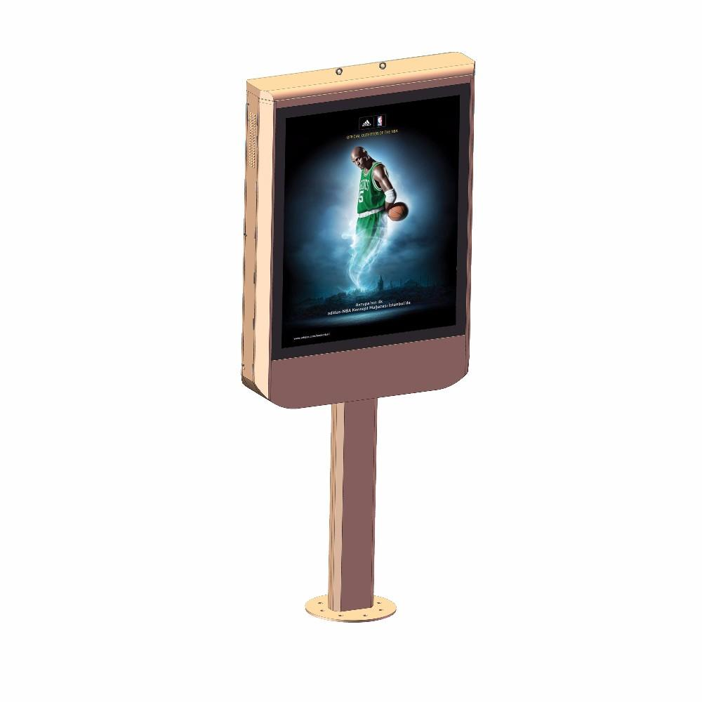 Customized shape lamp post advertising led light box