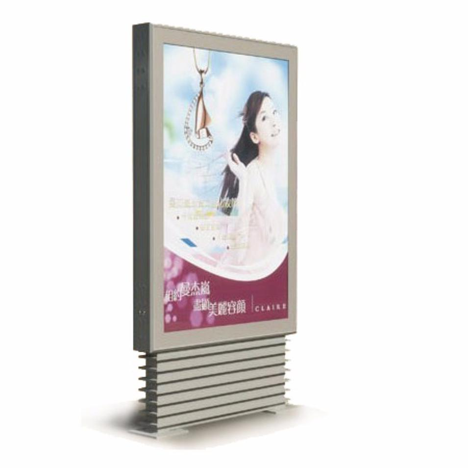Shopping Mall Free Standing Scrolling System Light Box Poster Rotating