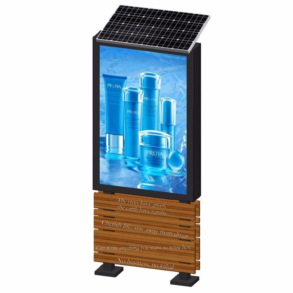 Foshan YEROO solar powered advertising light box display with 15 years production experience