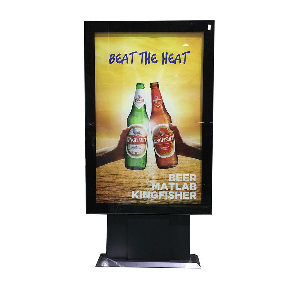 Mupi standing scrolling LED advertising vertical signboard light box