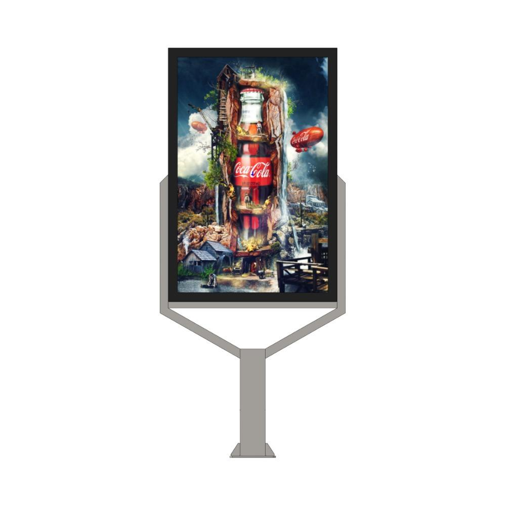 Aluminium Lightbox Advertising Display Led Digital Mupi
