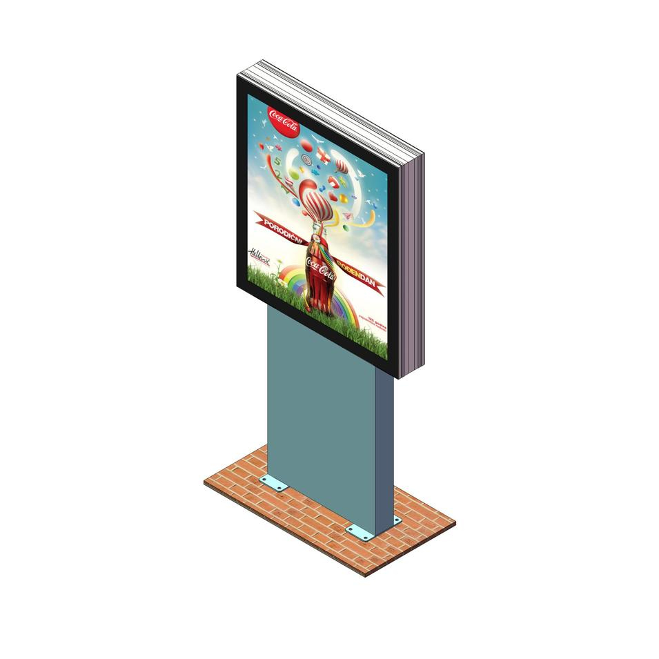Hot design scrolling system advertising scrolling light box