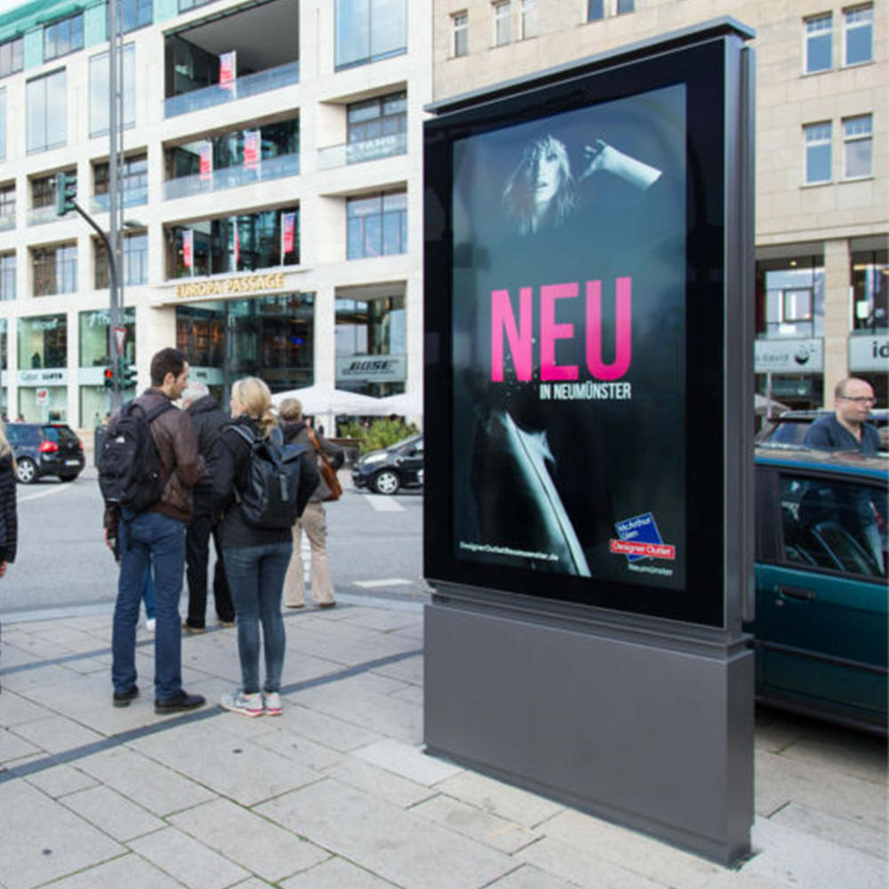 Double sided outdoor advertising scrolling light box