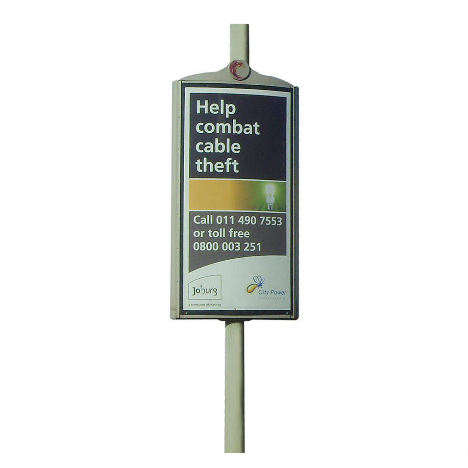 Outdoor double sided street pole / lamp post display for sals