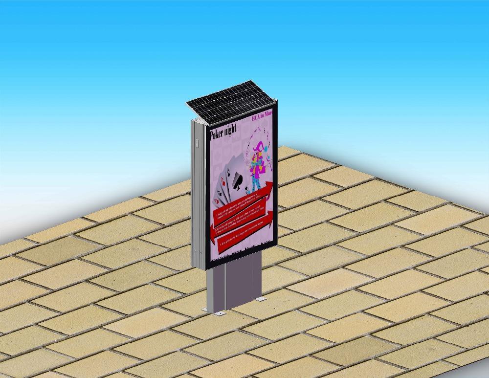 YEROO Factory Mupi and Solar Powered Outdoor Scrolling Lightbox Solar light box