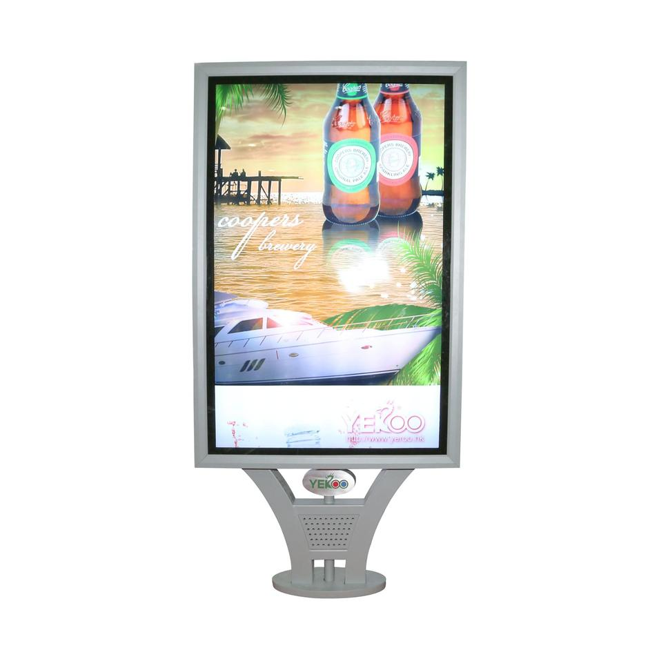 Street advertising outdoor light box with scrolling system