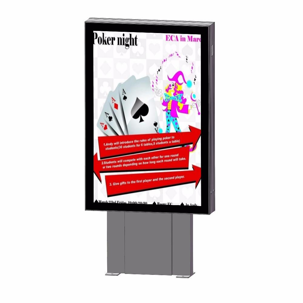 Outdoor street advertising signs scrolling light box mupi
