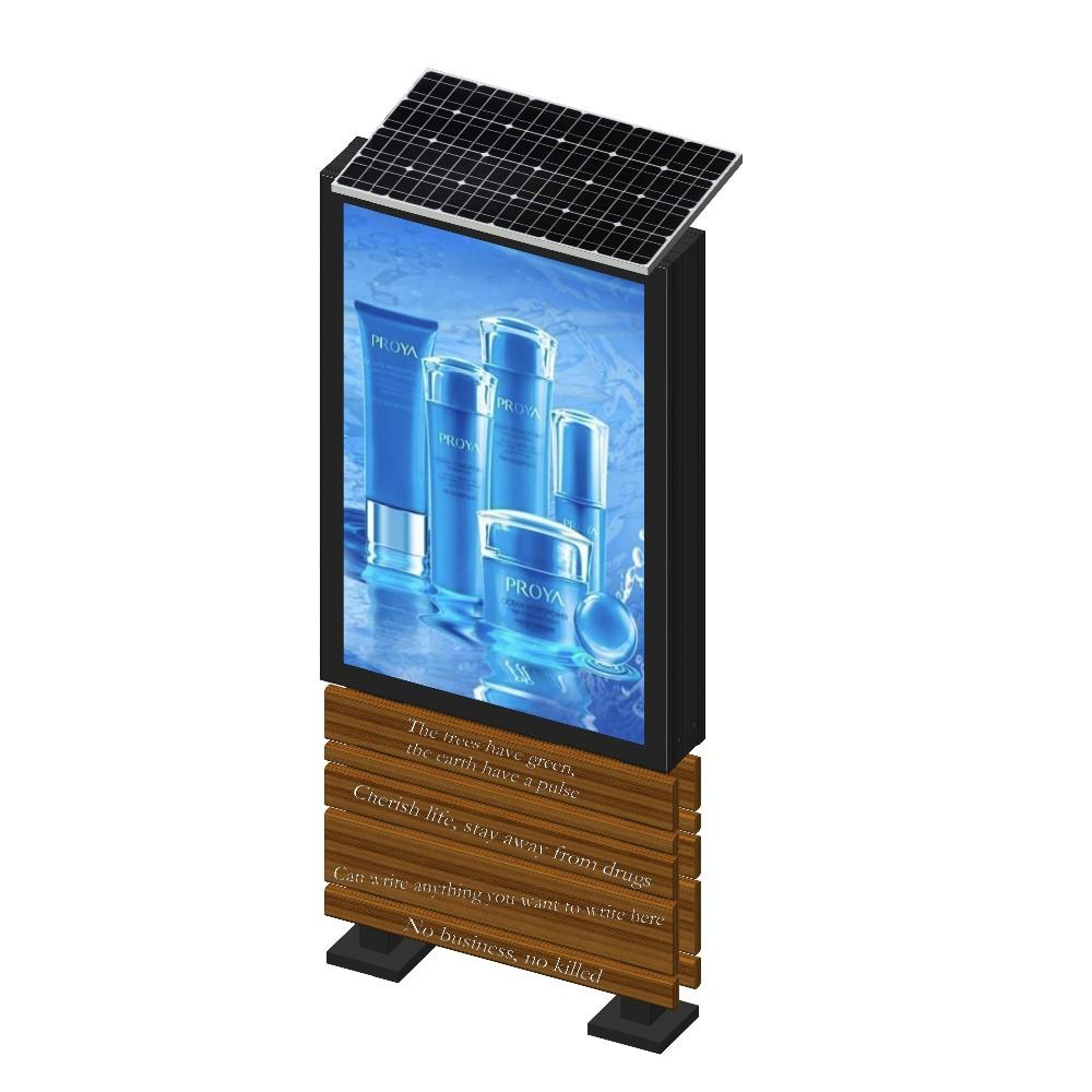 Foshan YEROO solar powered advertising light box display with 15 years production experience