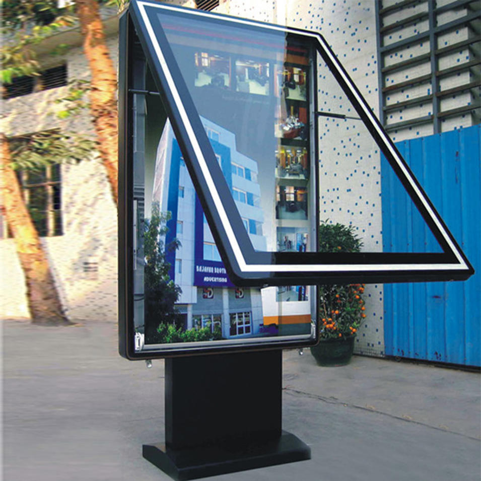 Single sided scrolling advertising light box