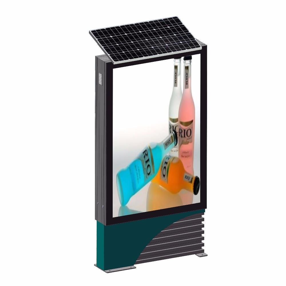 Solar power advertising light box mupi