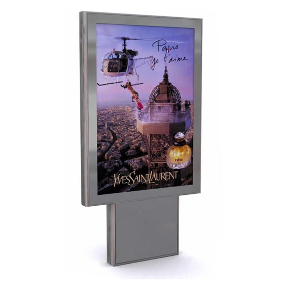 Outdoor Floor Stand Mupi Advertising Aluminum Profile Light Box