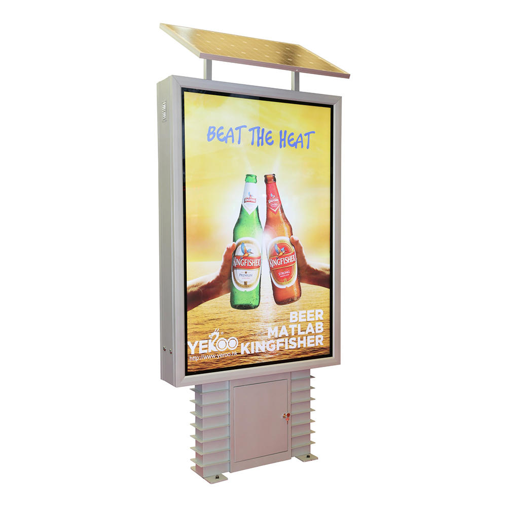 Solar power outdoor street advertising light box