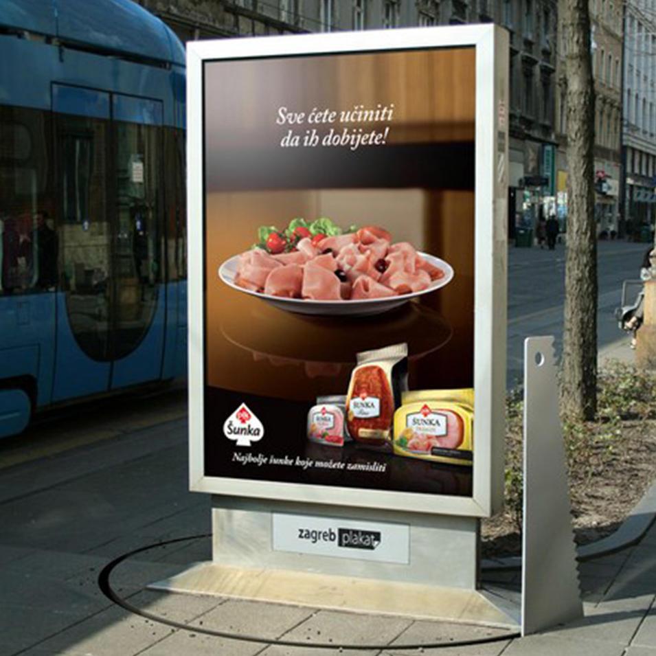 Floor standing outdoor advertising mupi light box