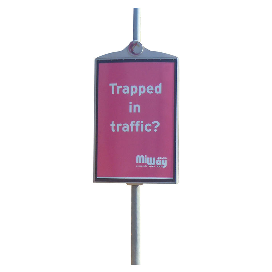 Road and street light pole advertising board/advertising lamp post display sign