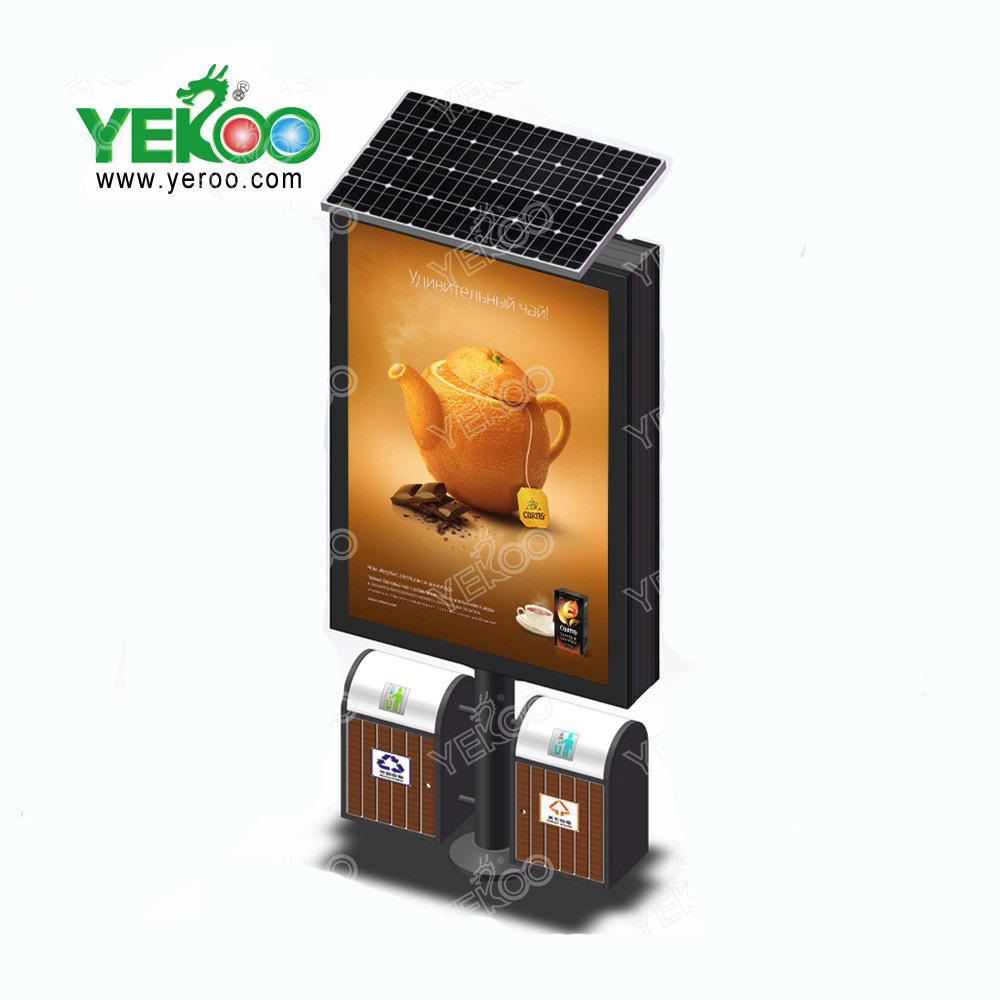 Outdoor solar powered electronic billboards