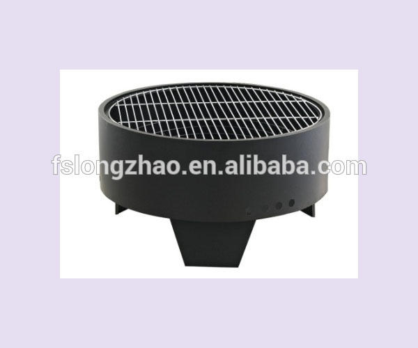 Round Fire pit & Charcoal Barbecue grill 2 in 1