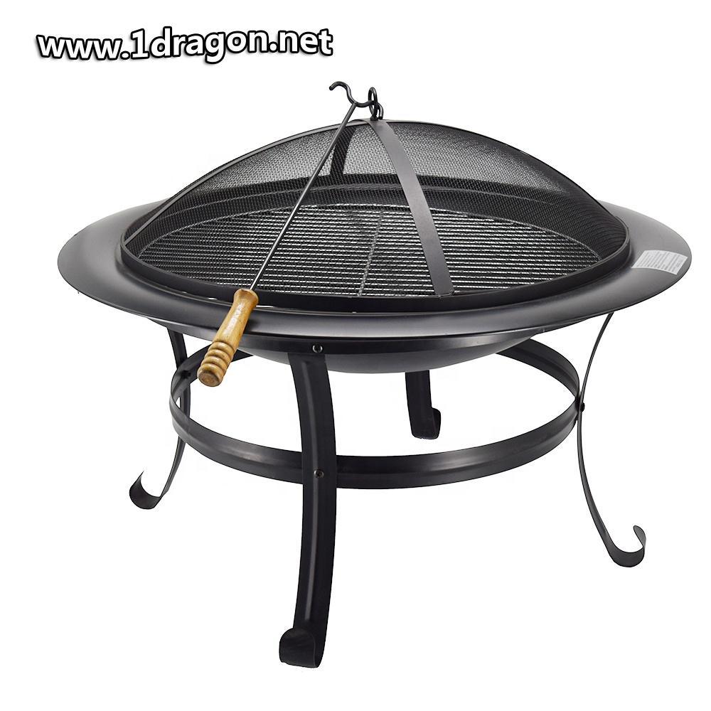 30inch Outdoor Garden Bowl Fire Pit BBQ Brazier Fire Pit