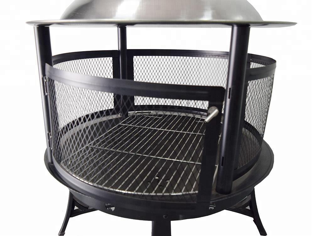 Antique design charcoal grill vertical garden treasures fire pit