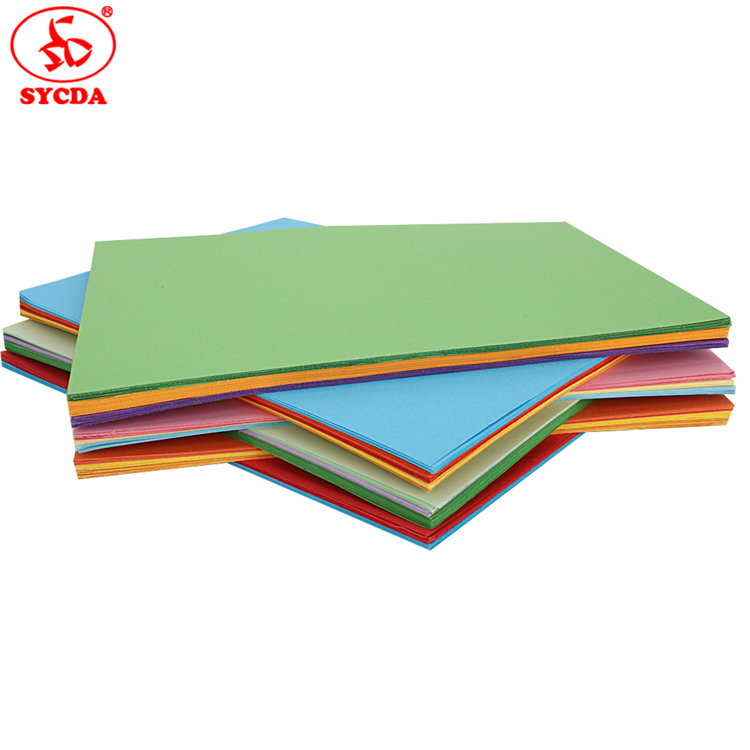 Factory Supply Woodfree Light/Deep Color Paper Coloful Offset Paper 60g 70g 80g