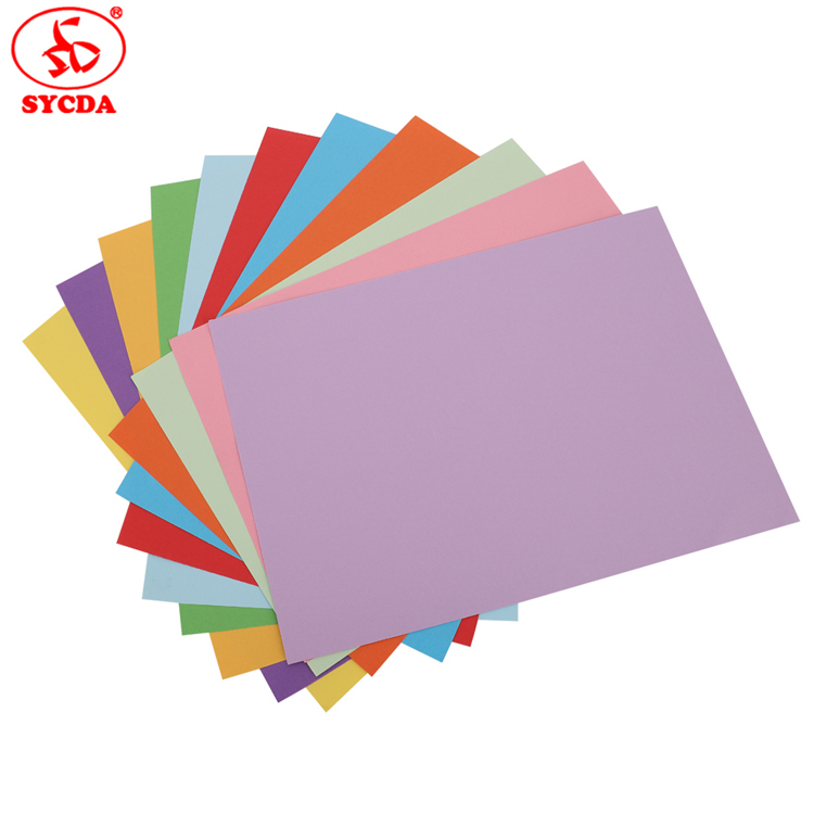 New!!! 2017 high quality woodfree A4 color printing 60g coloful offset paper of China