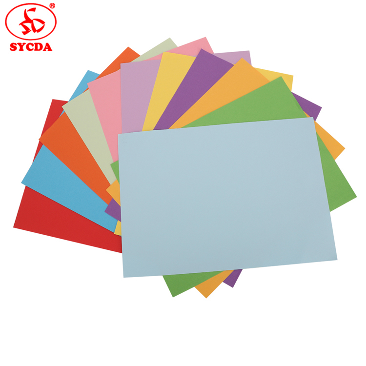 copy paper colorful 70g coated woodfree coloful offset paper made in China