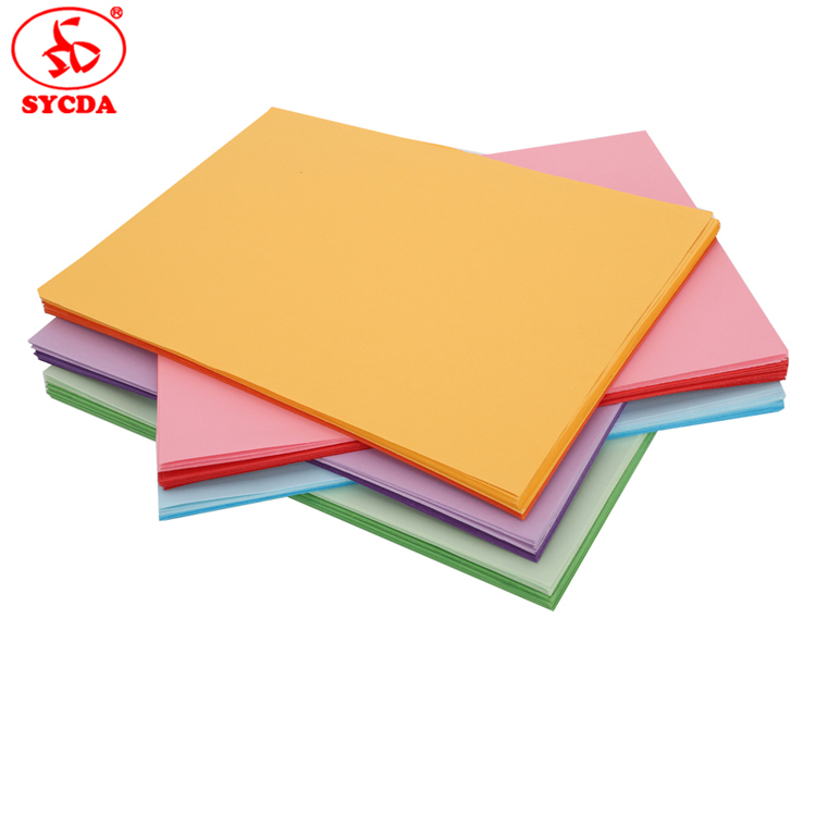 120g professional 100% virgin pulp coloful offset paper 70gsm for sale