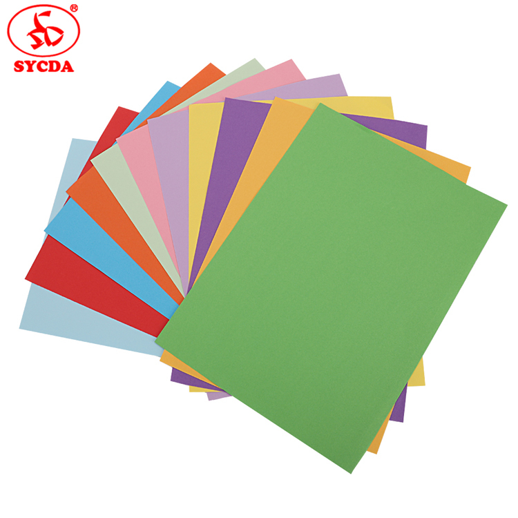 Factory price 100gsm coloful woodfree paper of China