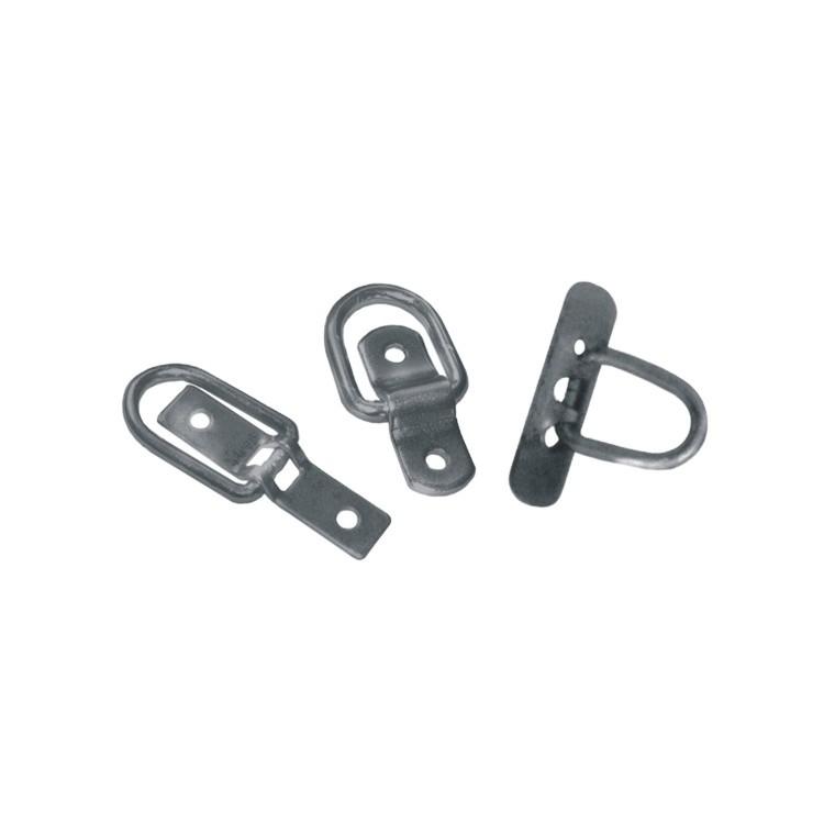 Steel Zinc Plated Srfce-Mntd Tie-Down D-Ring