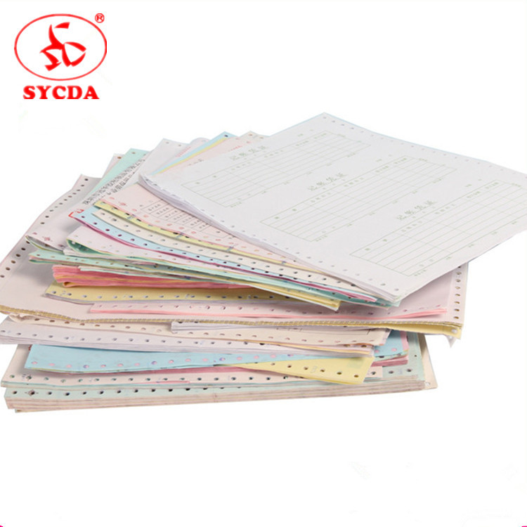 Blank Printing Carbonless Roll Paper 2 ply NCR paper For POS Machine