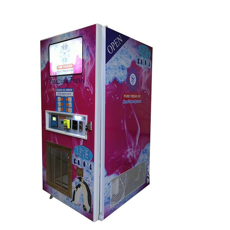 Waterproof all-steel cabinest automatic ice vending machine