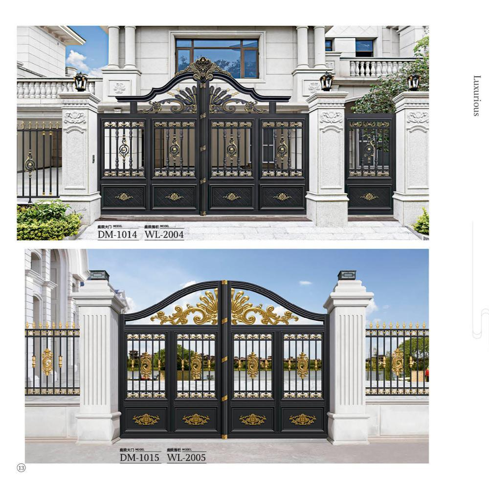 Customized High Quality SlidingAluminum Garden Fence Gate With Motor