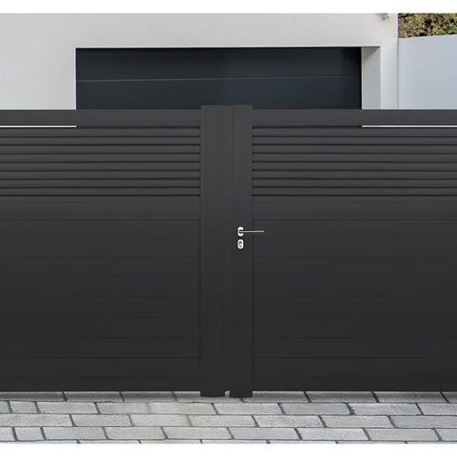 Driveway gates residential aluminium gatesintercom systems